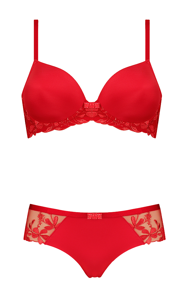 a1f5326b Our new Sexy Angel Spotlight collection also features the wired half-cup  padded bra in red, taking inspiration from our beloved Amourette Spotlight  ...